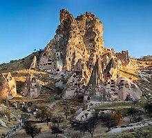 Uchisar Fortress, Cappadocia, Turkey by Bob Culshaw