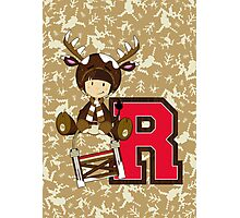 R is for Reindeer Photographic Print