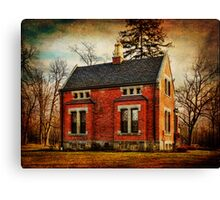 Caretakers Cottage Haight Cemetery Canvas Print