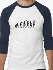 Evolution Ballet Ballerina Men's Baseball ¾ T-Shirt
