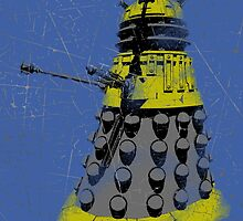 Vintage Look Half Tone Doctor Who Dalek Graphic by VintageSpirit