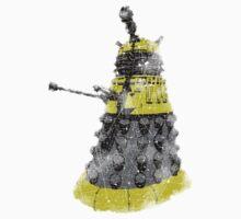Vintage Look Half Tone Doctor Who Dalek Graphic Baby Tee
