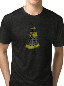 Vintage Look Half Tone Doctor Who Dalek Graphic Tri-blend T-Shirt