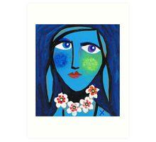 Blue Emma Art Print