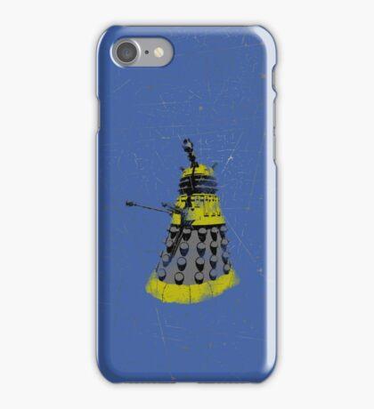 Vintage Look Half Tone Doctor Who Dalek Graphic iPhone Case/Skin