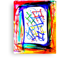 Magic Scroll Unique Abstract Art Canvas Print