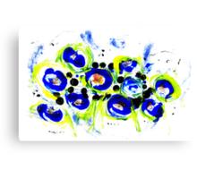 Blue Flowers Unique Art Canvas Print