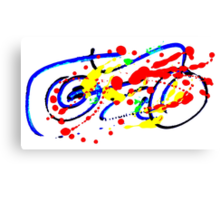 Motorbike- Unique Abstract Painting Canvas Print