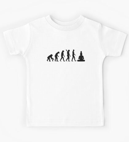Buddha Evolution  Kids Tee