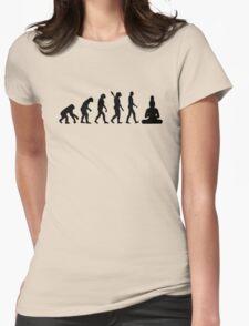 Buddha Evolution  Womens Fitted T-Shirt