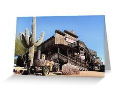 Old Goldfield Saloon Greeting Card