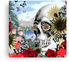 Nature skull landscape Canvas Print