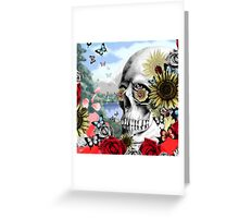 Nature skull landscape Greeting Card