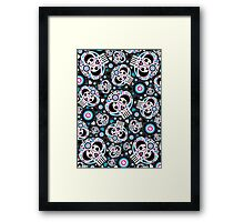 Mexican 'Day of the Dead' Pattern Framed Print
