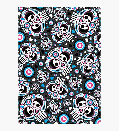 Mexican 'Day of the Dead' Pattern Photographic Print