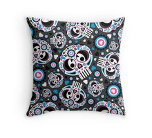 Mexican 'Day of the Dead' Pattern Throw Pillow