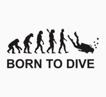 Evolution Born to Dive Diving  Baby Tee