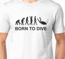 Evolution Born to Dive Diving  Unisex T-Shirt