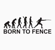 Evolution born to fence Fencing Kids Tee
