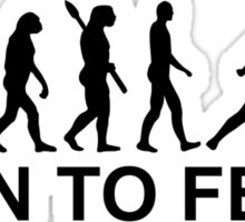 Evolution born to fence Fencing Sticker