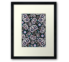 Mexican 'Day of the Dead' Skull Pattern Framed Print