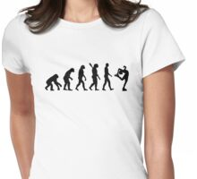 Evolution Figure skating woman Womens Fitted T-Shirt