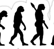 Evolution Figure skating woman Sticker