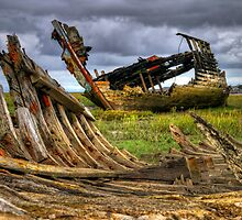 Fleetwood Marsh Wreck by FyldePhotos