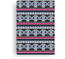 Mexican 'Day of the Dead' Skull Stripe Canvas Print