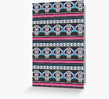 Mexican 'Day of the Dead' Skull Stripe Greeting Card