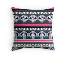 Mexican 'Day of the Dead' Skull Stripe Throw Pillow