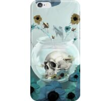 Looking glass skull in fish bowl  iPhone Case/Skin