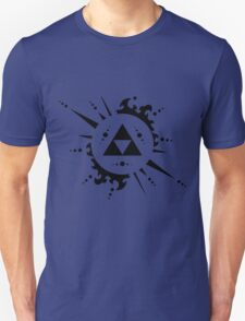 Triforce Black and White Unisex T-Shirt