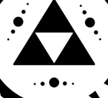 Triforce Black and White Sticker