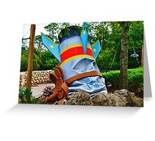 The Great Goofini Crashed Rocket Greeting Card