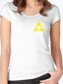 Triforce Badge Yellow Low Cost HQ Women's Fitted Scoop T-Shirt