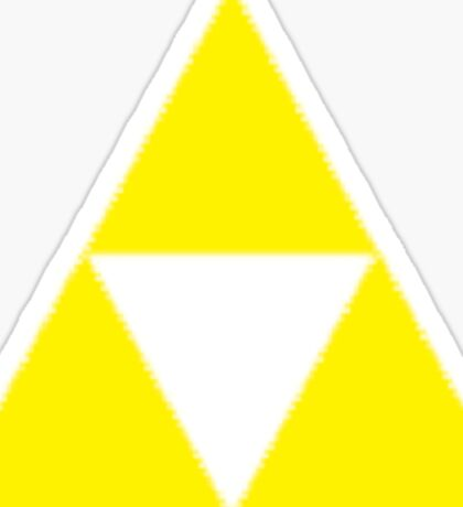 Triforce Badge Yellow Low Cost HQ Sticker