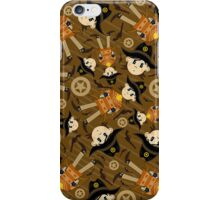 Cute Poncho Cowboy Pattern Illustration iPhone Case/Skin