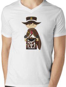 Cute Cowboy Pattern Mens V-Neck T-Shirt