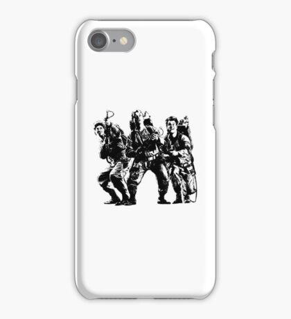 Ghostbusters Film Poster Silhouette iPhone Case/Skin