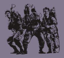 Ghostbusters Film Poster Silhouette Kids Tee