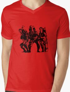 Ghostbusters Film Poster Silhouette Mens V-Neck T-Shirt