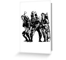 Ghostbusters Film Poster Silhouette Greeting Card