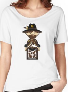 Cute Cowboy Pattern Women's Relaxed Fit T-Shirt