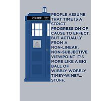 Timey Wimey - Doctor Who Photographic Print