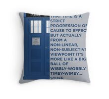 Timey Wimey - Doctor Who Throw Pillow