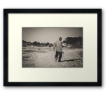 On His Way Home Framed Print