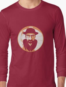 Heisenberg face Silouhette Shadow Long Sleeve T-Shirt