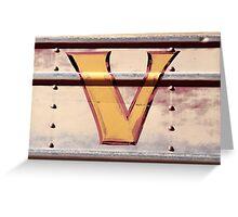 V. Greeting Card