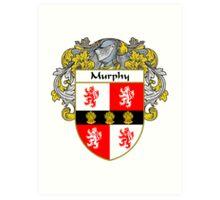 Murphy Coat of Arms/Family Crest Art Print
